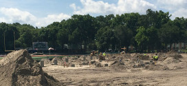 Milne Field Construction, June 14 2014