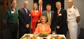 Picture of Kinne Scholarship Recipients and Fran Kinne