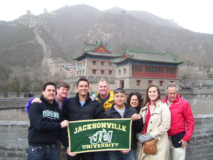 Business students on a recent trip to China.