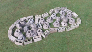Model of oyster reef built from drone images.