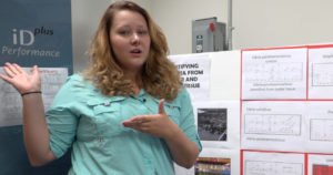Graduate student Shelby O'Brien talks about Vibrio bacteria in local oysters