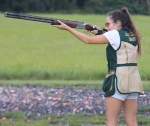 Hannah Hughes takes aim