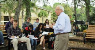 Dr. White teaches class
