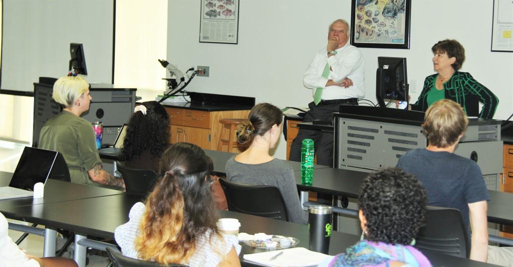 Dr. Widder speaks to students