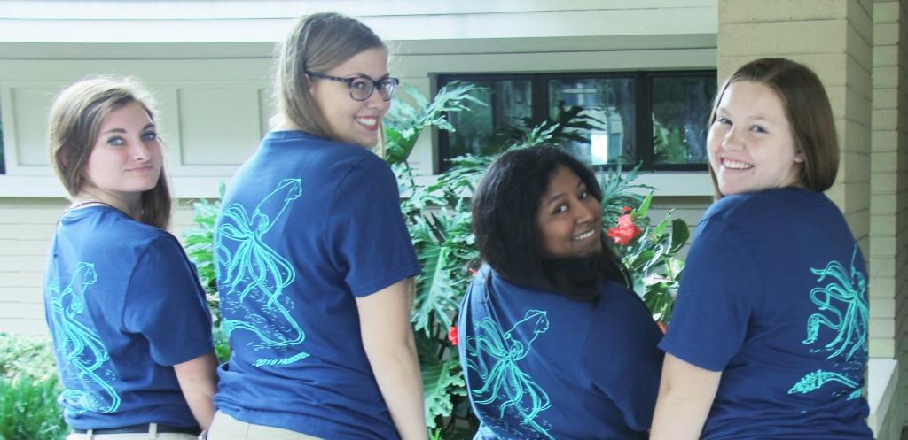 Students model T-shirts