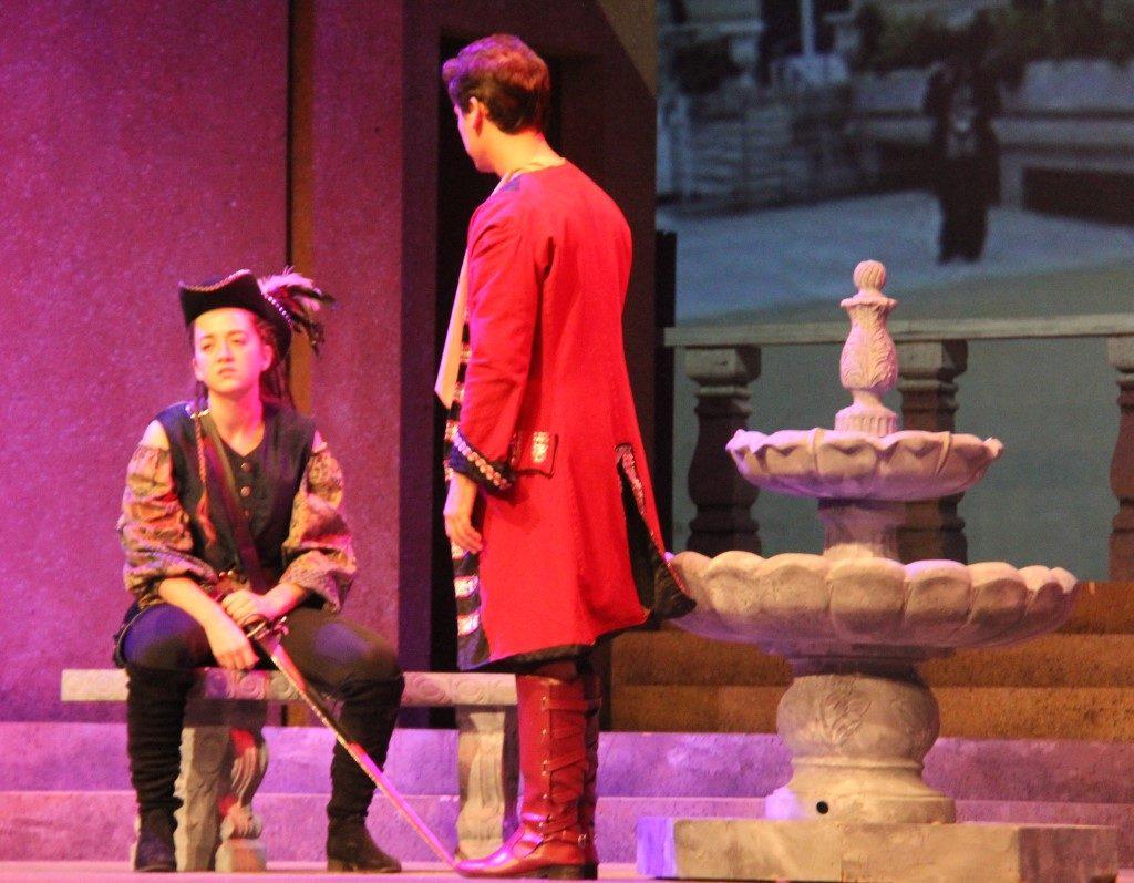 Romeo talks with Mercutio