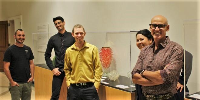 Five JU glass artists at the Cummer