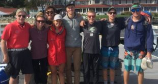Sailing team visits alumni