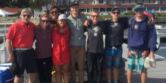 Sailing team visits alumni