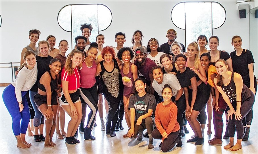Students with their instructor during Cleo Parker Robinson's residency
