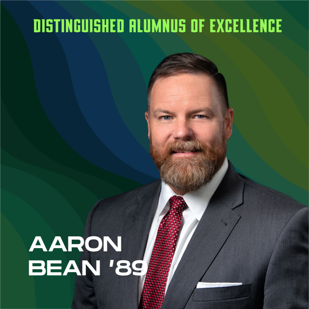 Distinguished Alumnus of Excellence: Aaron Bean '89