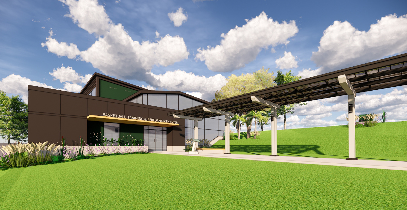 Rendering of Jacksonville University's new basketball performance center