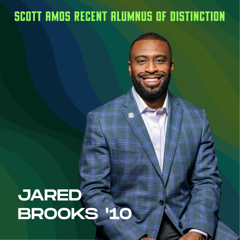 Scott Amos Recent Alumnus of Distinction: Jared Brooks '10