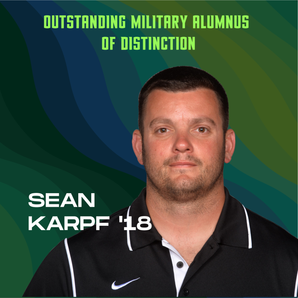 Outstanding Military Alumnus of Distinction: Sean Karpf '18