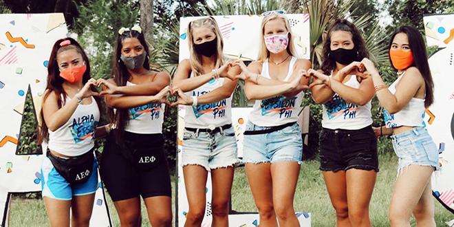 AEP Sorority Sisters in Masks
