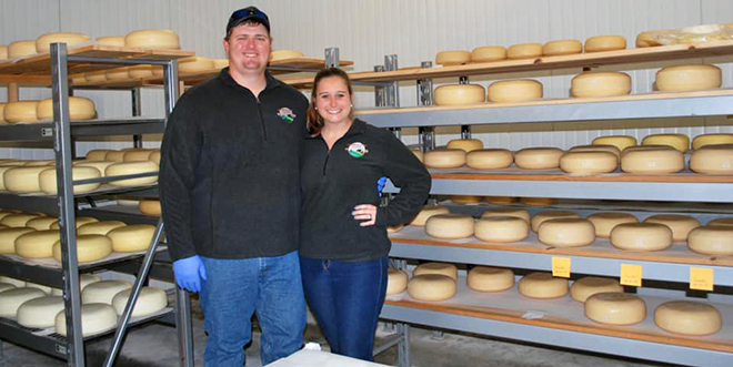 Feature Image of Kevin and Shelby Lussier and cheese rounds