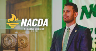 Alex Riker Gilbert with NACDA Award