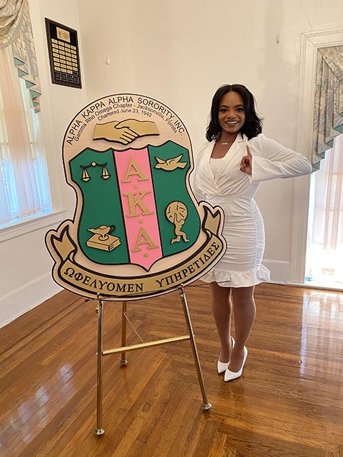Photo of Alpha Kappa Alpha President Shakaila Brown