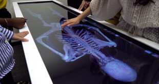 Students using medical technology