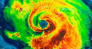 Geocolor image of a hurricane