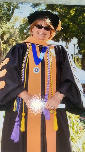 Jennifer Willison on graduation day