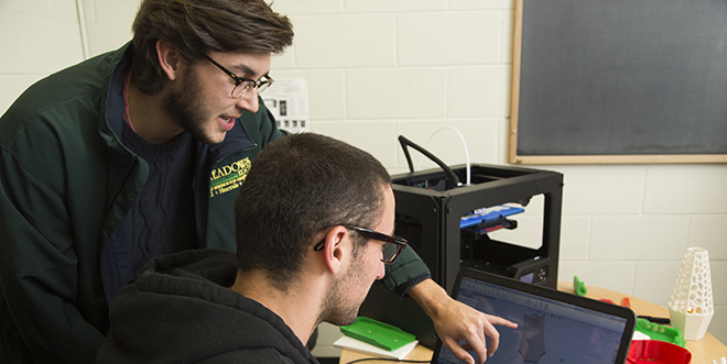Two engineering students working