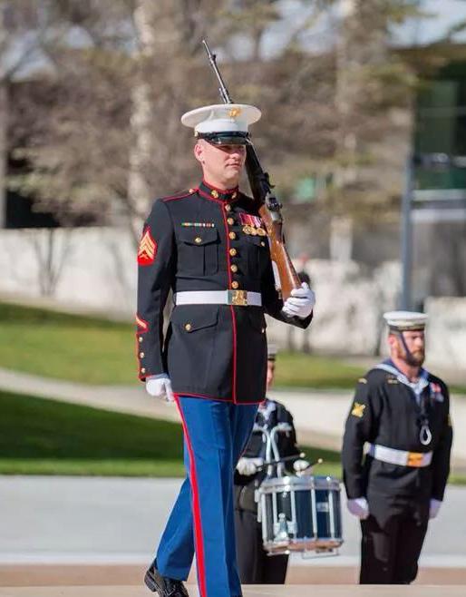 Fred Blaz in his Marine Uniform